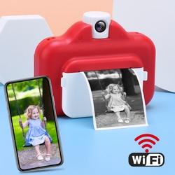 Kids Instant Print Camera Thermal Printer Wireless WIFI Phone Printer 1080P HD Kids Digital Camera Toy for Children