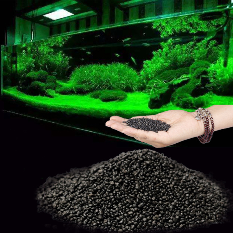 50g Fish Tank Water Plant Fertility Substrate Sand Aquarium Plant Soil Substrate Gravel For Fish Tank Water Moss Grass Lawn image