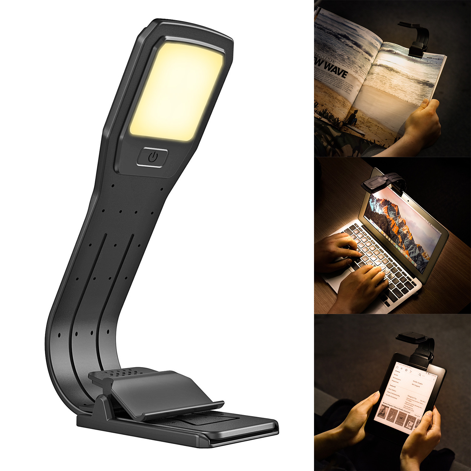 LED Reading Lamp Rechargeable LED Reading Clip Lamp Suit For  Kindle EBooks Paper Books Reading Essential Eye Protectors
