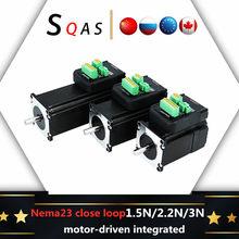 Motor CNC de circuito cerrado Nema23, servomotor híbrido digital integrado con accionamiento, 1,5 N, 2,2 N, 3N, 8mm, 1 Uds.