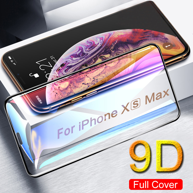 9D Protective Glass For IPhone 7 Screen Protector IPhone 8 Xr Xs Xs Max Tempered Glass On IPhone X 6 6s 7 8 Plus Xs Cover Glass