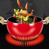 Non Stick Aluminum Kitchen Soup Pot Fruit Pan Sauce Pan Boiler Tomato Shape No Fumes Household Cooking Tools Kitchenware