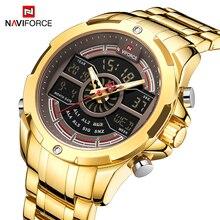 Nowy NAVIFORCE luksusowej marki mężczyźni moda wodoodporny zegarek cyfrowy mężczyzna Sport wojskowy zegarki kwarcowe zegar Relogio Masculino