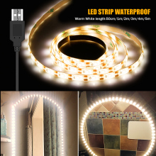 Makeup Vanity Mirror Light Strip Led 5V USB LED Flexible Tape Cable Power Waterproof Decor Dressing Table mirror Lamp