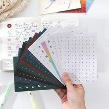 Ablum-pegatinas semanales coreanas para decoración de álbumes de recortes, agenda, teléfono móvil, decoración