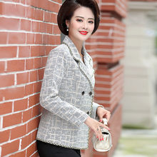 Mother's Spring Autumn Woolen Jacket Short 2020 New Fashion Middle-aged Women Tweed