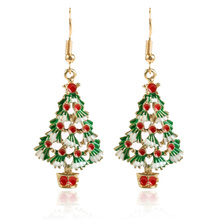 Hot Creative Christmas Ornaments Stylish Christmas tree Drop Earrings jewelry for gift christmas tree drop earrings