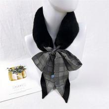 Kasure женский модный шейный платок из искусственного меха воротник