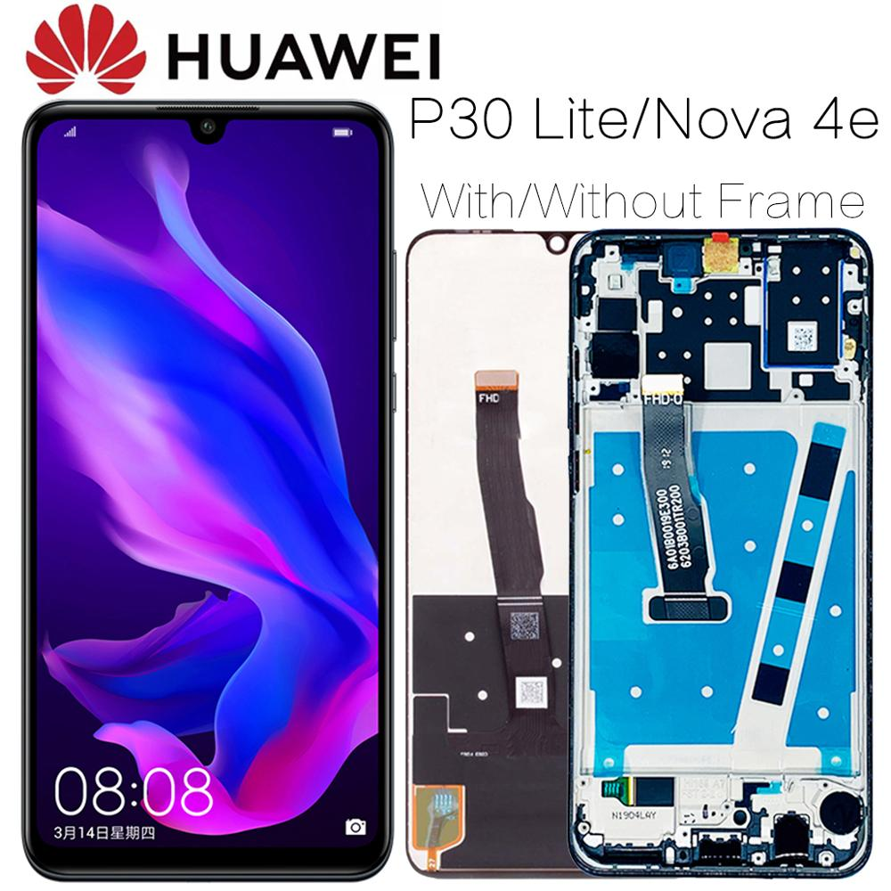 2312*1080 AAA Original LCD With Frame For HUAWEI P30 Lite Lcd Display Screen For HUAWEI P30 Lite Screen Nova 4e MAR-LX1 LX2 AL01