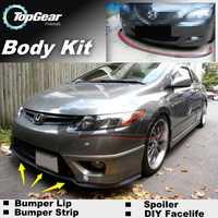 Para HONDA Civic Type R Si por ejemplo ¿EH EJ EK EM ES PE EV FD FA FG/FN FB parachoques labios/Spoiler frontal para personalización de automóviles/Tira