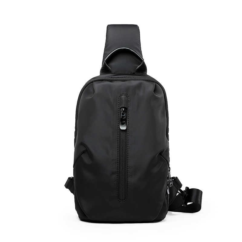 新実用的なメンズカジュアル胸バッグ、学生スポーツショルダーバッグ、男性の多機能小型のメッセンジャーバッグ