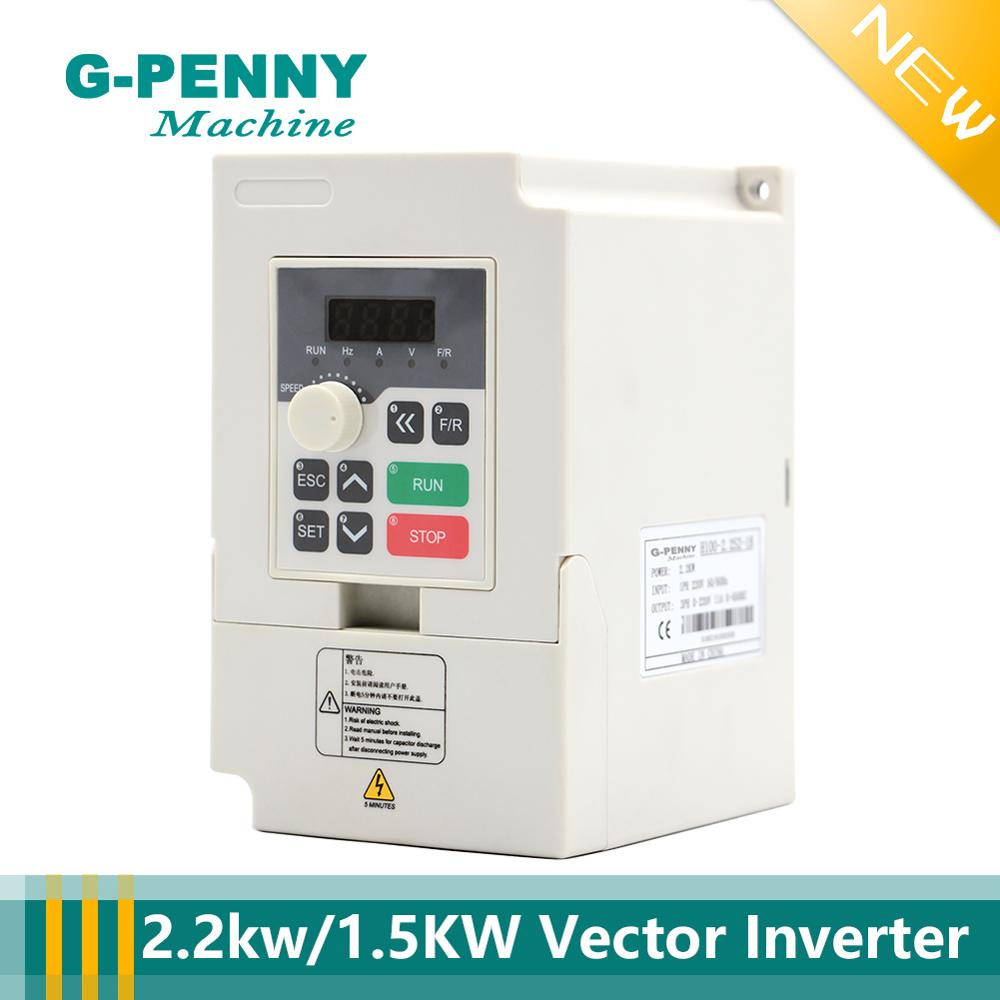 New Arrival! 220v Variable Frequency Drive 1.5kw <font><b>2.2kw</b></font> VFD vector <font><b>Inverter</b></font> Motor Speed Control 0-1000Hz Frequency Converter image