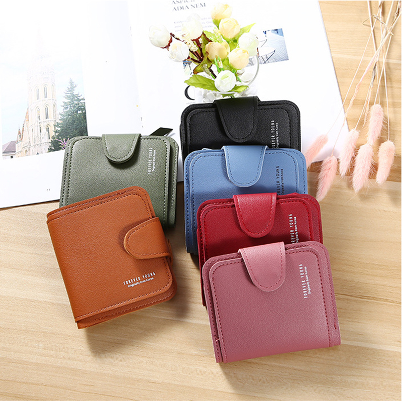 2020 Wallet Women Short Purses Card Holder Clutch Wallets Purse Coin Pocket Ladies Female New Fashion