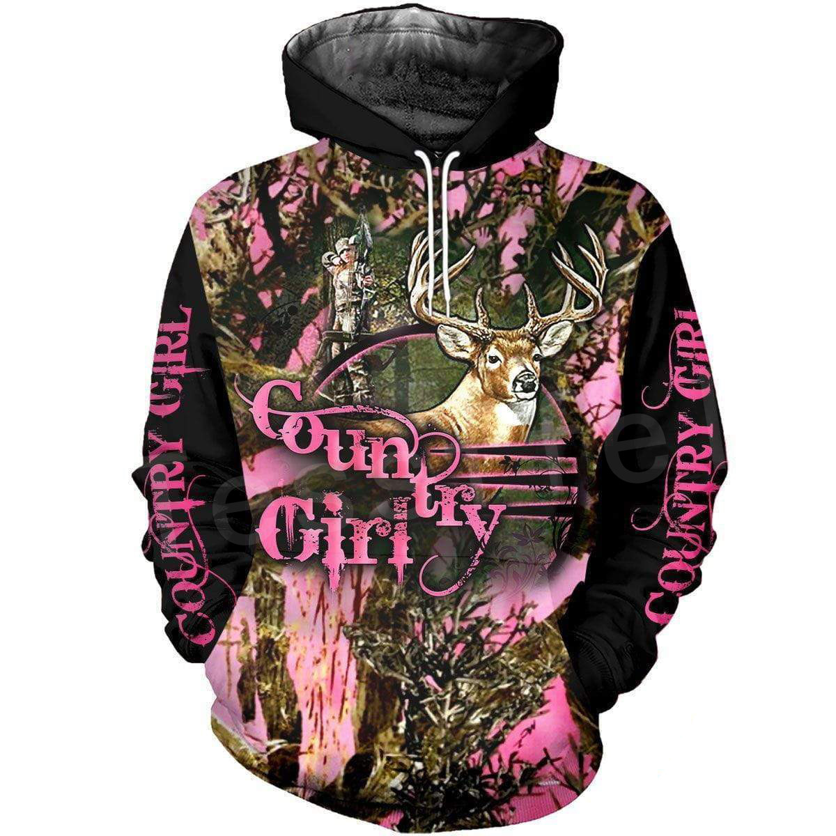 Tessffel Animal Deer Hunter Colorful Camo New Fashion Tracksuit Casual 3DPrint Hoodie/Sweatshirt/Jacket/Mens Womens S-1