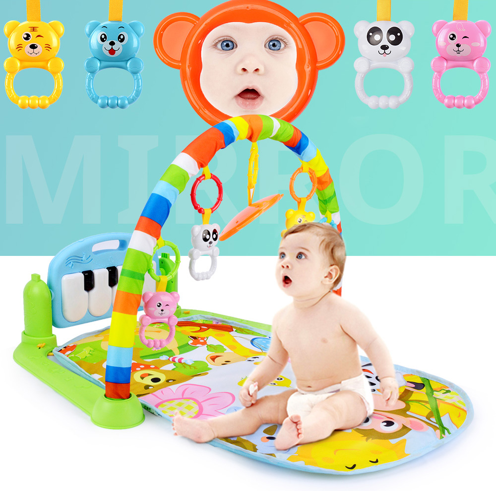 H2b7f927ce5214baeb1f1d8a87a3a88a6t 16 Styles Baby Music Rack Play Mat Kid Rug Puzzle Carpet Piano Keyboard Infant Playmat Early Education Gym Crawling Game Pad Toy
