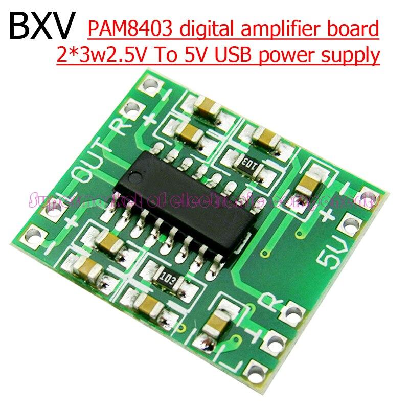 (5piece) PAM8403 Module Super Mini Digital Amplifier Board 2 * 3W Class D Digital 2.5V To 5V Power Amplifier Board Efficient