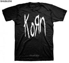 Korn impressionante T Camisas Top Homens Negros Da Velha Escola O-pescoço Curto-Luva T Camisa sbz3522