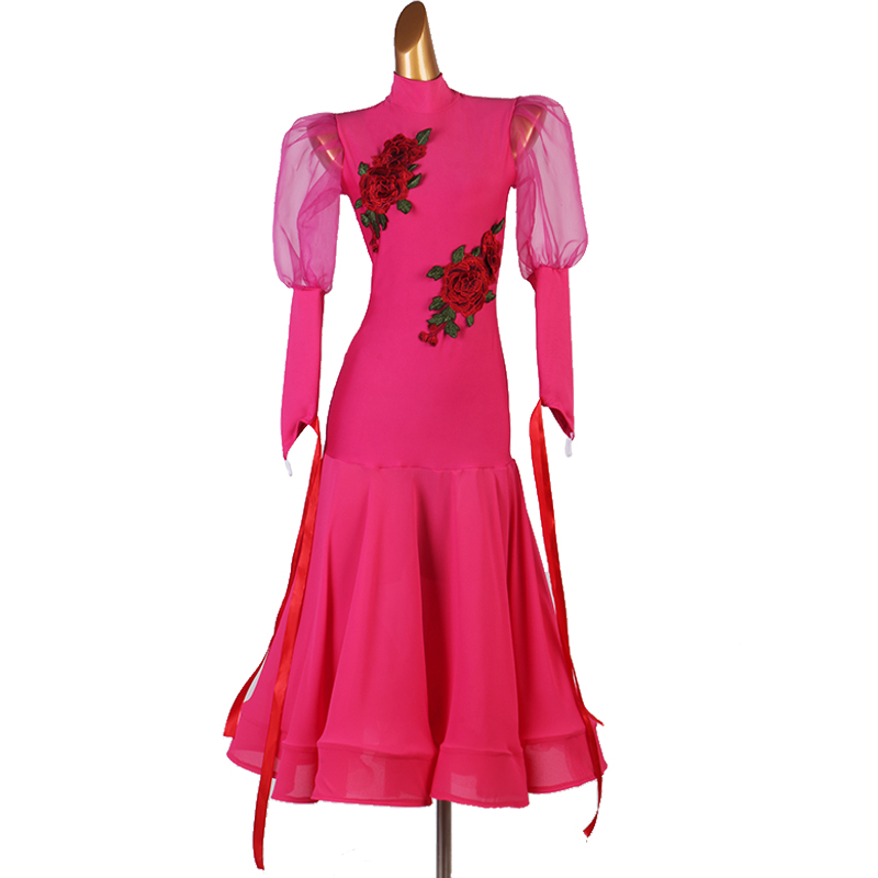 2020 Ballroom Dance Competition Dresses Women Standard Dance Dresses Spandex Ballroom Dance Dresses Standard Customizable Size