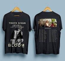 Nova troye sivan a bloom tour 2018 t camisa masculina tamanho S-3Xl 2018 moda 100% algodão fino ajuste topo o-pescoço camiseta mais tamanho