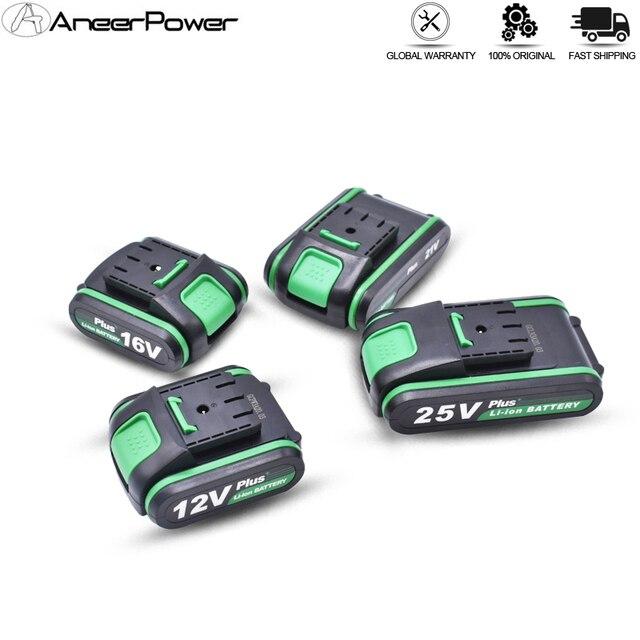 Haute qualité 25V 12V Plus batterie au Lithium Li ion batterie pour outils électriques perceuse à percussion Rechargeable sans fil tournevis batterie