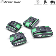 High Quality 25V 12V Plus Lithium Battery Li ion Battery For Power Tools Rechargeable Impact Drill Cordless Screwdriver Battery