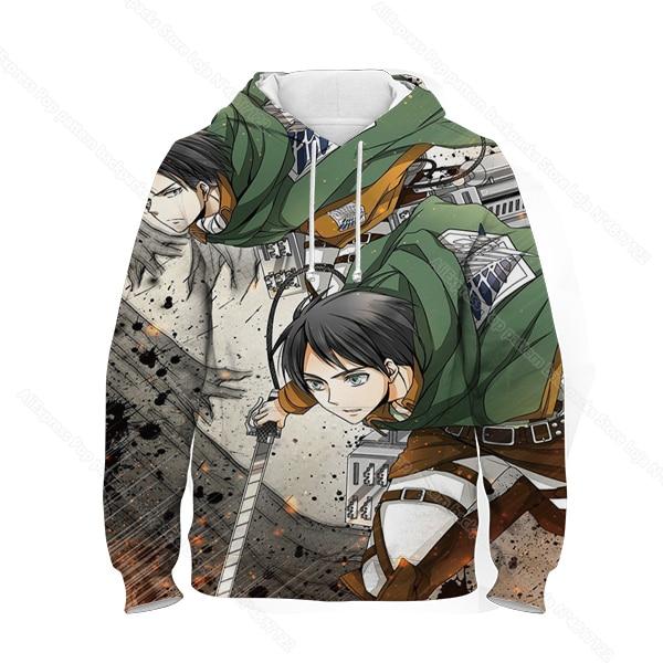 Купить kids 3d print attack on titan hoodie children anime sweatshirt