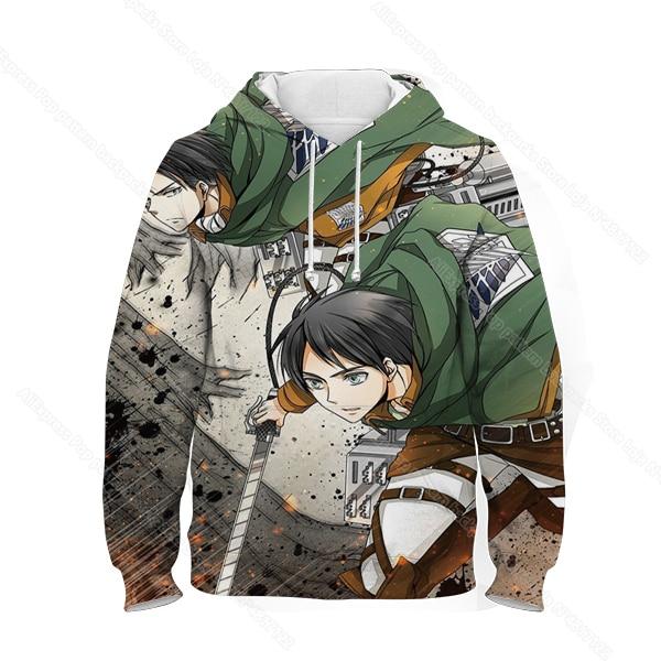 Купить kids 3d print attack on titan hoodie children anime sweatshirt картинки цена