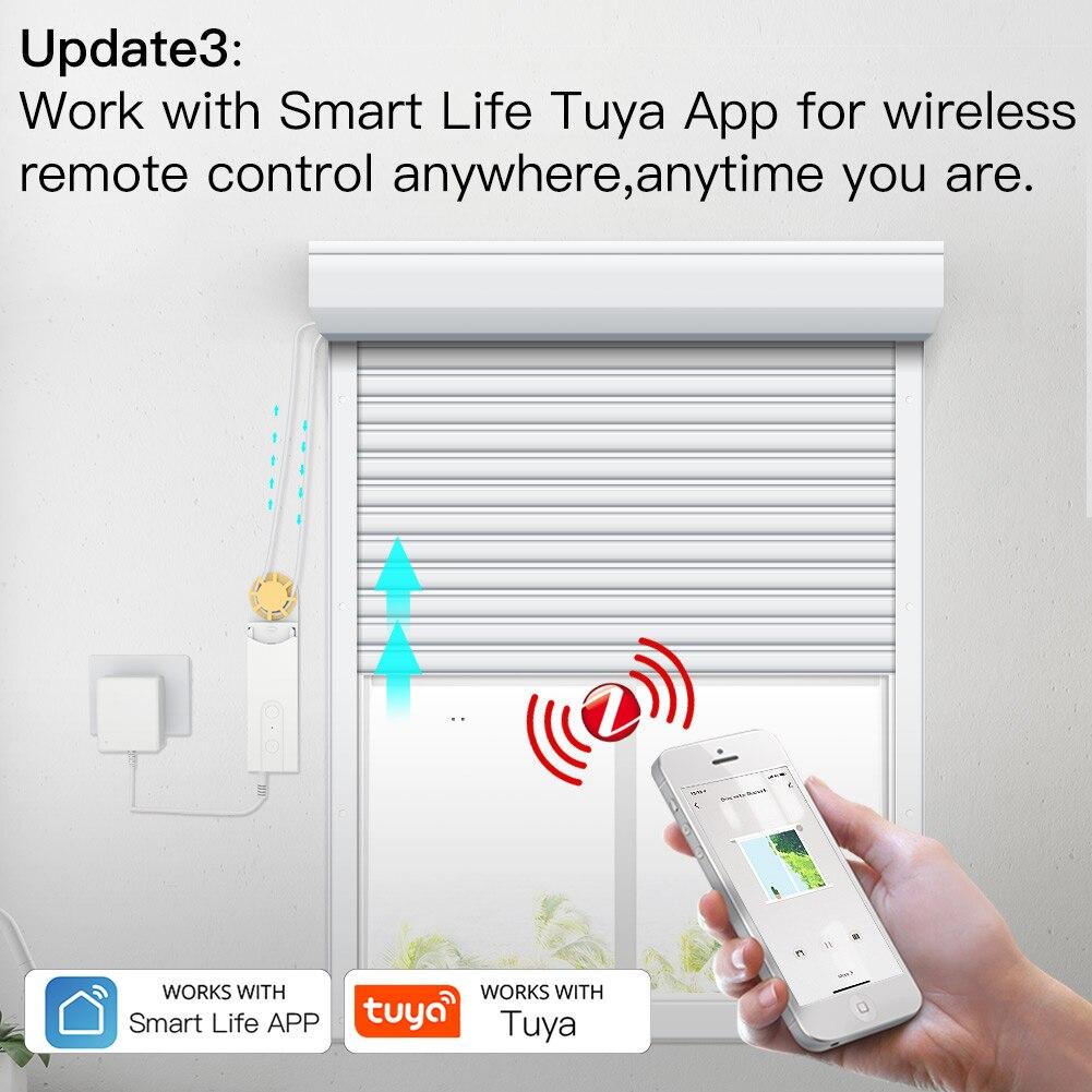 ZigBee Smart DIY Motorized Roller Blinds/Shades Drive Motor Hub Tuya Smart Life APP Alexa Google Home Voice Control