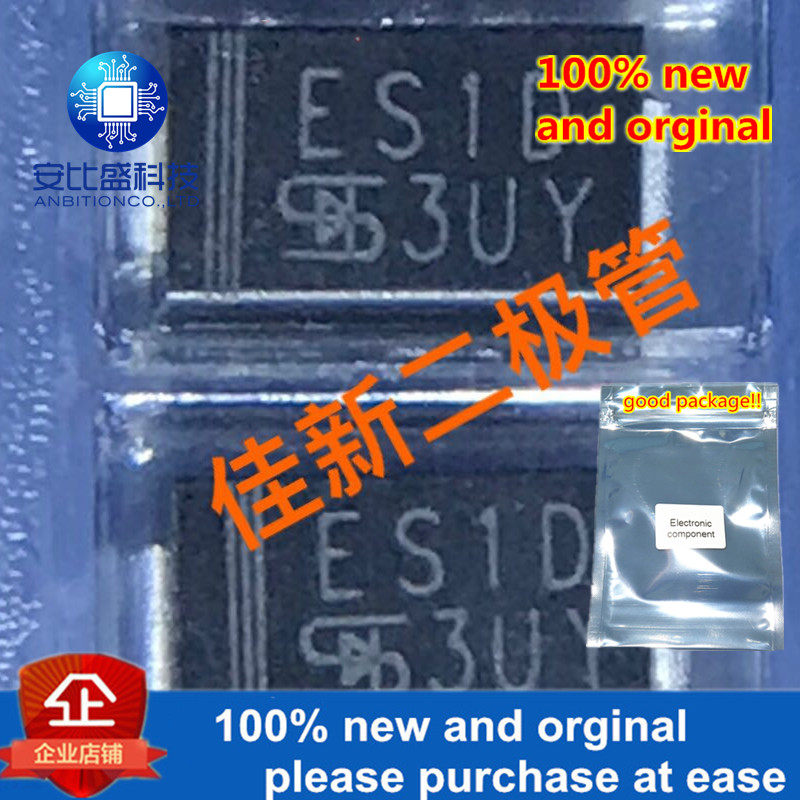 100pcs 100% New And Orginal ES1D 1A200V  Ultrafast Recovery Diode DO214AC In Stock