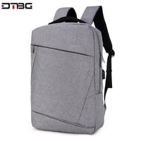 DTBG Gray Backpack 15.6 Laptop Back Pack Men Women Fashion Slim Travel Bags Large Capacity Waterproof College School Mochilar