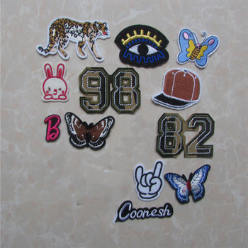 16Pcs Mixed Cheap Embroidered Cartoon leopard Patches For Clothes Stickers Iron On Applique Patch Badge For Clothing Accessories image
