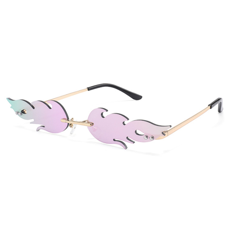 Women's Cat Eye Sunglasses Brand Designer Retro Metal Flame Style Women Sun Glasses Shades UV400 Eyeglasses