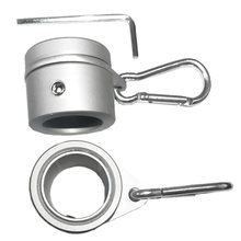 2pcs Flag Pole Ring Grommet Aluminum Alloy With Carabiner Adjustable Anti Wrap 360 Degree Rotating Silver Easy Install Outdoor(China)