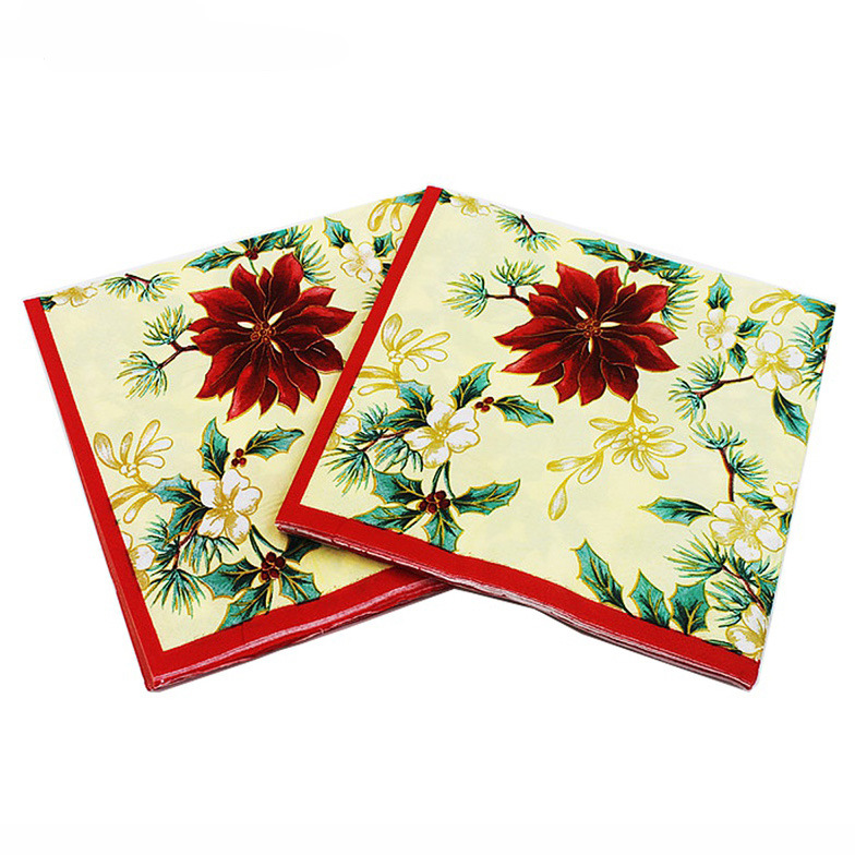 [Currently Available] Top Grade Wedding Color Printing Napkin 100% Original Pulp