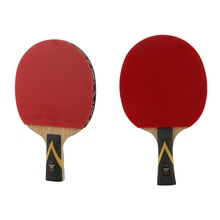 1PC Table Tennis Racket Lightweight Ping Pong Paddle Bat Ergonomic Long/Short Handle Table Tennis Paddle With Carrying Case
