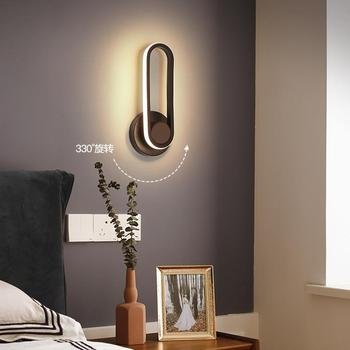 Nordic LED Light Iron Wall Lamp Lights White Strip Wall Sconce Lamps Bedroom Bathroom Hotel Stair Bedside Dining Room Wall Light