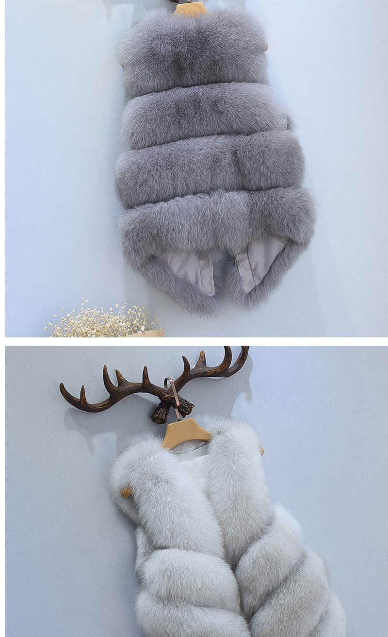Women's Fox Fur Waistcoat 10