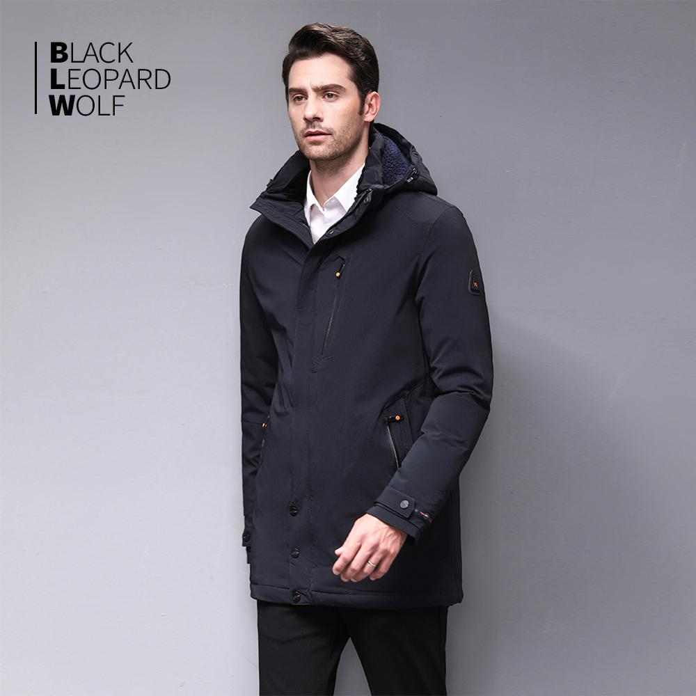 Image 3 - Blackleopardwolf 2019 chegada nova jaqueta de inverno casaco  masculino thik parka alaska outwear destacável outwear luxo à prova  vento BL 1002Parcas