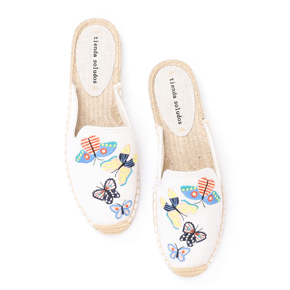 Tienda Soludos Espadrilles Slippers For For Flat 2019 Time-limited Rushed Hemp Spring/autumn Rubber Zapatos De Mujer Terlik