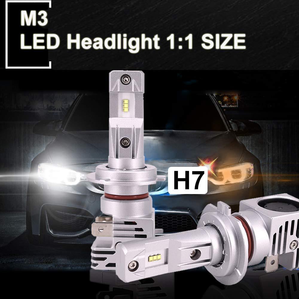 H7 voiture phare LED 80W 6000K H8 h11 h4 9005 H7 lampe frontale à LED antibrouillard ampoules phares pour V W BMW audi benz feux de route et feux de croisement