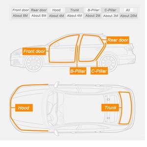 Image 3 - Car Styling Moulding BJ shaped Car Door Seal EPDM Universal Noise Insulation Weatherstrip Sealing Rubber Strip Trim Auto Seals