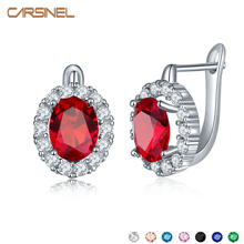 FYM Newest Women Hoop Earrings Silver Plated Inlay AAA Colorful Cubic Zircon Round Engagement Earrings for Women ER0273 fym newest women hoop earrings silver plated inlay aaa colorful cubic zircon round engagement earrings for women er0273