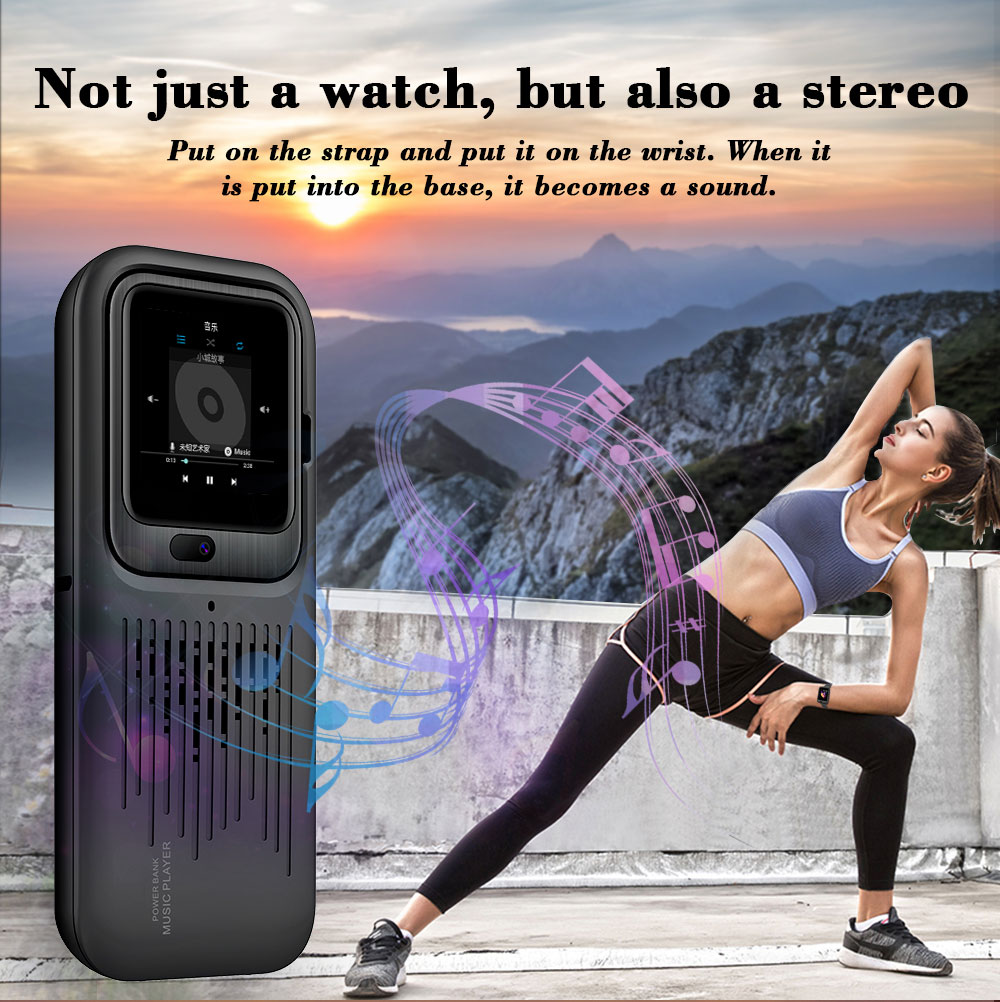 LEMFO New LEM11 4G Smart Watch Android 7.1 3GB 32GB Video Call 1200mah Power Bank Wireless Bluetooth Speaker Strap Replaceable