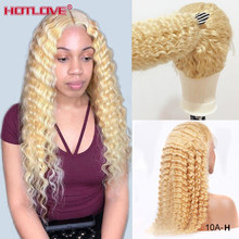 613 Blonde Glueless Lace Front Human Hair Wigs Brazilian Loose Deep Wave Wigs 13x4 Lace Front Wig Blonde Hair Wigs Remy 150%(China)