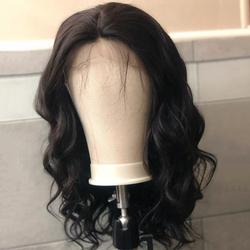 Vague de corps 6x1 HD T partie dentelle Bob perruques cheveux humains aircabine 16 pouces sans colle brésilien Remy couleur naturelle perruques pour les femmes noires