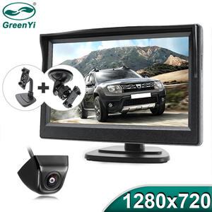 Greenyi Backup-Camera Ahd-Monitor 5inch Vehicle Starlight Reverse for Car 1280x720p 170-Degree