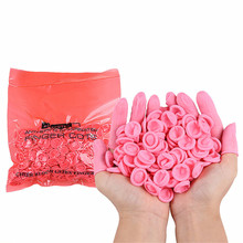 SUEF New Arrival 20/50pcs Natural Rubber Gloves Finger Cots Latex Fingertip Protective Disposable silicone gloves @2