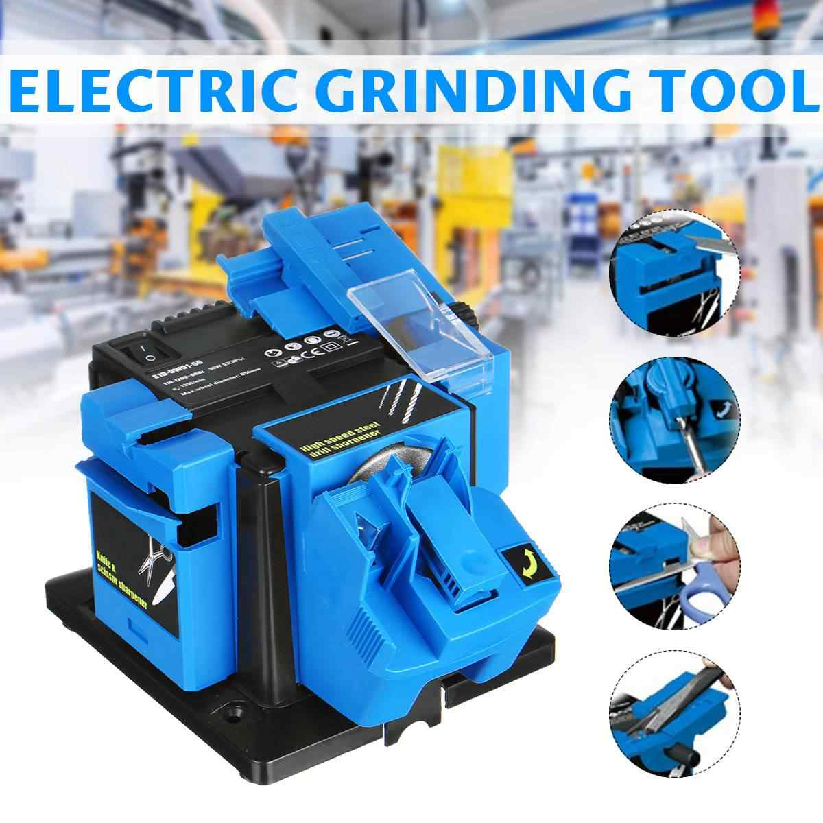 Multifunction Electric Knife Sharpener Drill Sharpening Machine Knife & Scissor Sharpener Household Grinding Tools EU/US Power