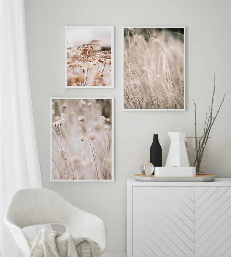 스칸디 나비아 장식 포스터 잔디 자연 풍경 캔버스 인쇄 북유럽 벽 예술 그림 장식 그림 홈 룸 장식
