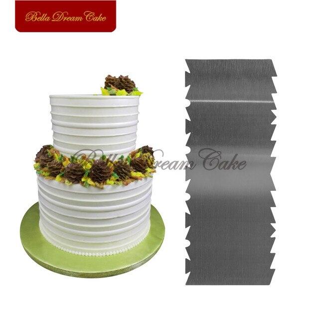 Новинка двухсторонняя Расческа для торта пилообразный зуб из